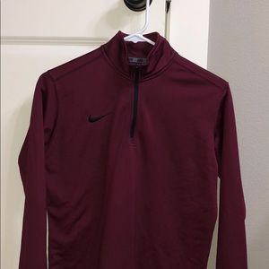 Nike maroon quarter zip jacket